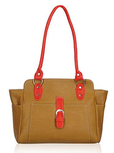 Fantosy Women's Handbag (Beige) (FNB-526)