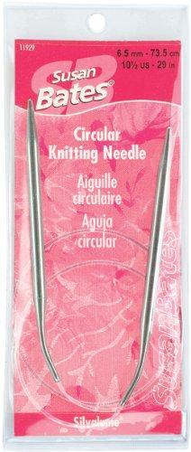Susan Bates 29-Inch Silvalume Circular Knitting Needle, 10mm (Circular Silvalume Needles Knitting Aluminum)