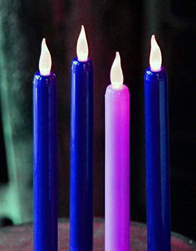 """Traditional Advent Candles Standard base Boxe 3 Purple 1 Pink   10/"""" Tapers"""