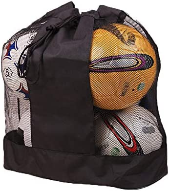 Afinder Large Capacity Sports Balls Storage Bag Training Bags Portable Drawstring Heavy Duty Basketball Soccer Volleyball Workout Carrier Equipment Holder Net Bags