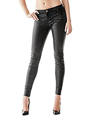 GUESS Shape-Up Seamless Jeggings in Raven Coal Wash