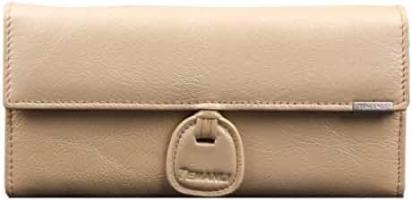 Janeyer Women's Soft Genuine Leather High Grade Knot Multi-card Handbag Wallet
