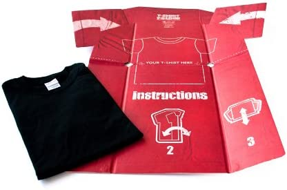 T-Shirt Folder Doblador de Camisetas, Papel, Rojo, 0.20x69.00x81.40 cm: Amazon.es: Hogar