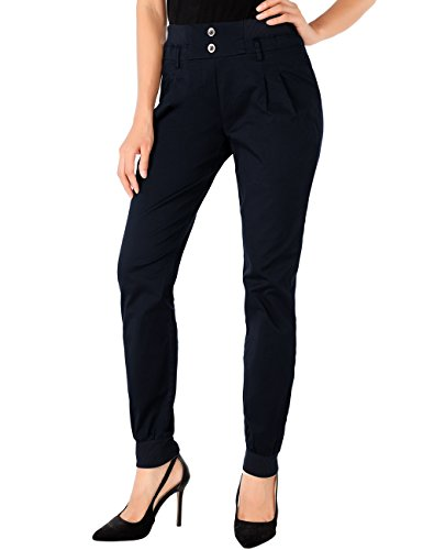 Slivexy Womens Jogger Pants, Slim Fit Womens Chino Cotton Pants Navy M