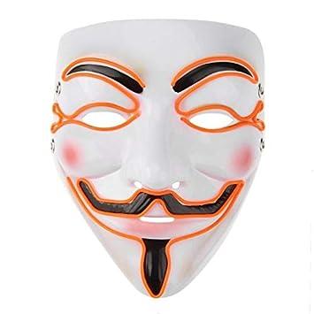 Amazon.com: VDV Halloween Mask EL Wire Funny Masks The Purge ...