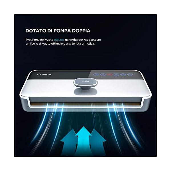 CalmDo CD-V001 Macchina Sottovuoto per Alimenti Automatica, 6 in 1 Sigillatrice Sottovuoto da 120W Secchi e Umidi… 5