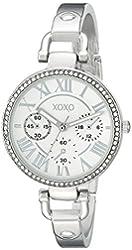 XOXO Women's XO5757 Analog Display Analog Quartz Silver-Tone Watch