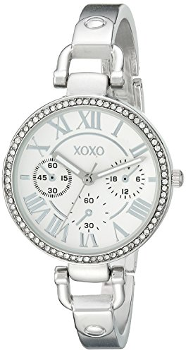 XOXO Women's XO5757 Analog Display Analog Quartz Silver-Tone Watch (Tone Analog Silver)