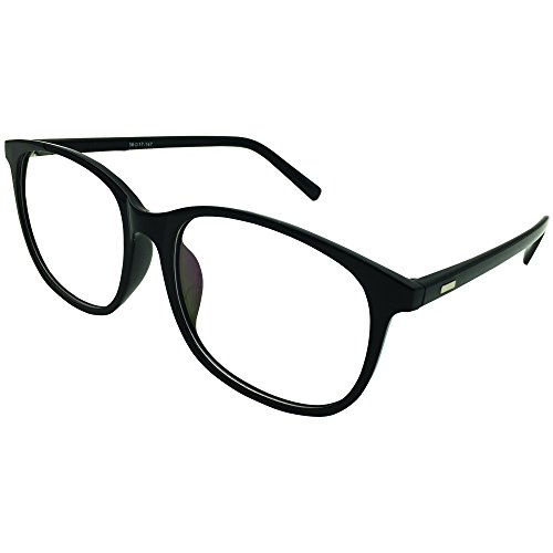 Southern Seas Oversize Computer Reading Glasses Everyday Use Mens Womens +1.25 Black Frame Readers Eyewear