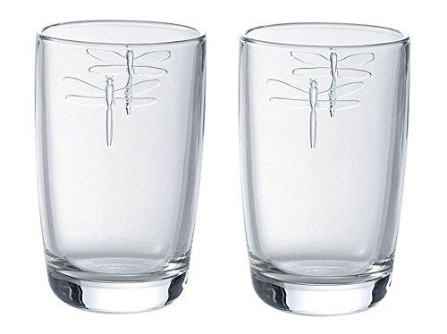 Bee Highball - La Rochere Libellules Dragonfly Glass Tumbler 40cl, Set of 2