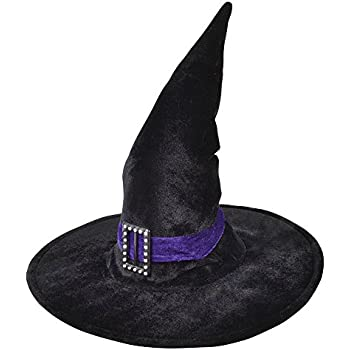 e919d55a585 Bristol Novelty BH259 Witch Hat Velvet with Belt   Buckle