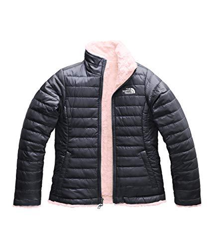 The North Face Kids Girl's Reversible Mossbud Swirl Jacket (Little Kids/Big Kids) Periscope Grey ()