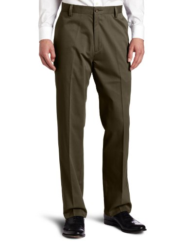 Dockers Men's Easy Khaki D3 Classic-Fit Flat-Front Pant, Rifle Green, 34W x 30L