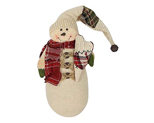 Craft Outlet Fabric Snowman with Heart Figurine, 11-Inch for sale  Delivered anywhere in USA