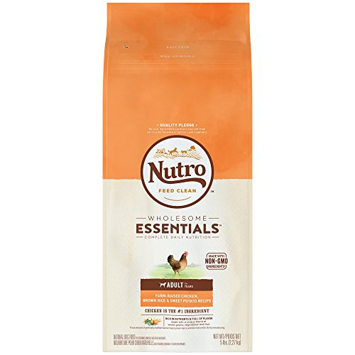 Nutro Wholesome Essentials Adult Dry Dog Food Farm-Raised Chicken, Brown Rice & Sweet Potato Recipe, 5 Lb. Bag