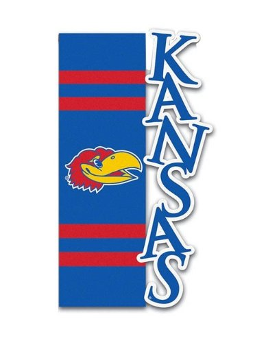 Evergreen Kansas Jayhawks Flag Garden Style Applique Sculpted
