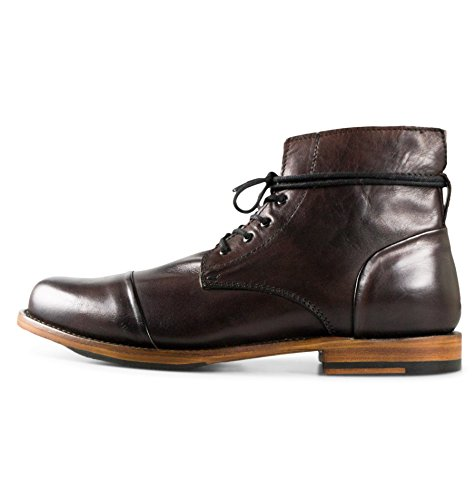 Sutro Footwear Men's Leather Chukka Lace Up Boots Handcrafted, Hand Stitched With Goodyear Welted Sole - Alder Redbrown - Alder Footwear