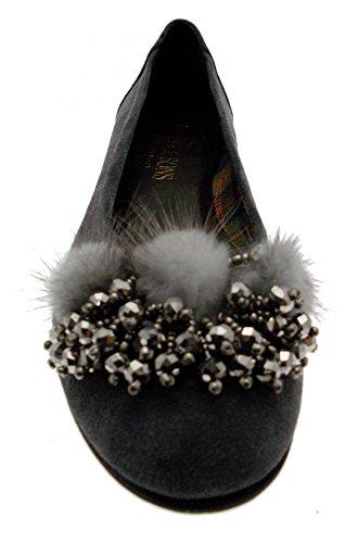 grigio grigio paperina 39 3493 camoscio ballerina visone wnf6P1pq