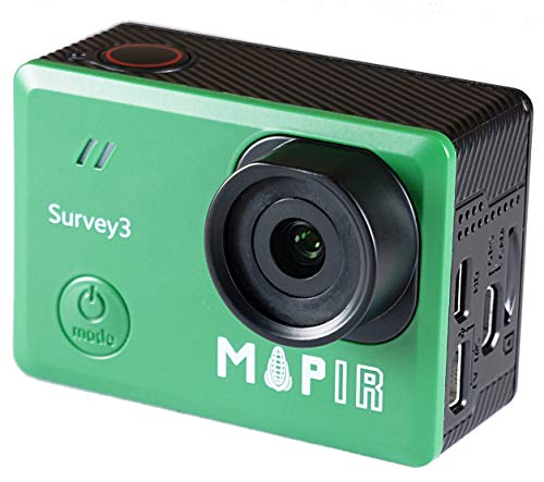 MAPIR Survey3N NDVI Mapping Camera NIR Near Infrared Filter 8.25mm f/3.0 No Distortion Narrow Angle GPS Touch Screen 2K 12MP HDMI WiFi PWM Trigger Drone Mount