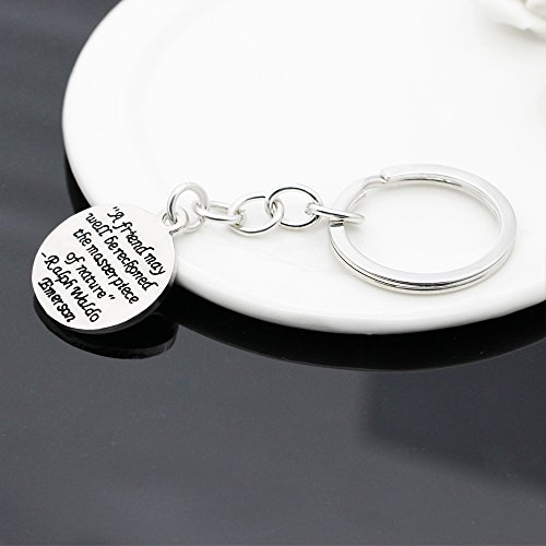A friend may well be reckoned the masterpiece of nature - Double Side Key Chain Ring BBF Best Friend Gift Photo #4