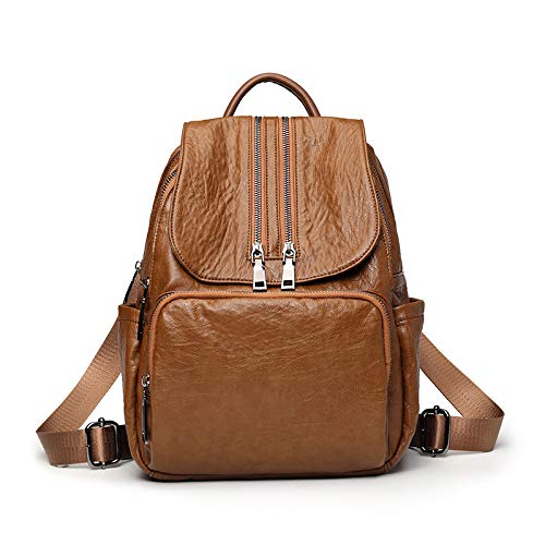 Brown Morbida Da Borsa All'aperto Femminile Selvaggio Per Zaino Moda On In Libero Sport Backpacking Carry Il Scuola Pelle Tempo Viaggio E1wYq1fH