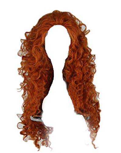 Xcoser Long Curly Princess Merida Cosplay Wig for Cosplay]()