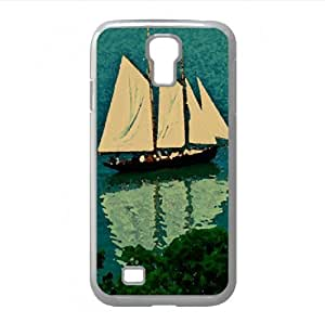 Sailing Boat Watercolor style Cover Samsung Galaxy S4 I9500 Case (Beach Watercolor style Cover Samsung Galaxy S4 I9500 Case)