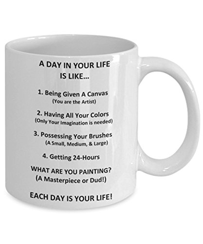 A Personal Gift Card For You - A Day In Your Life Analogy - Original White Ceramic Gifts - What Are You Creating Each Day 24 Hours At A Time - Life Purpose Daily Reminder Coffee - Tea Mug