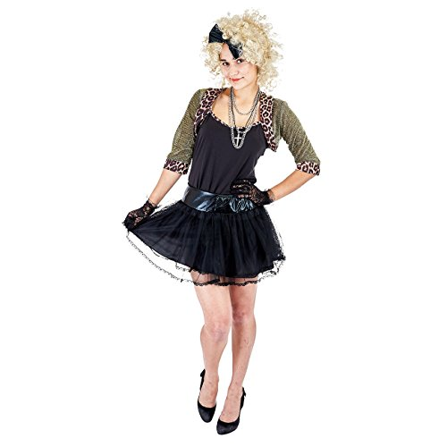 Charm Rainbow Women's 80's Wild Child Pop Star Costume Cosplay for Halloween Theme Party(XL) Black]()