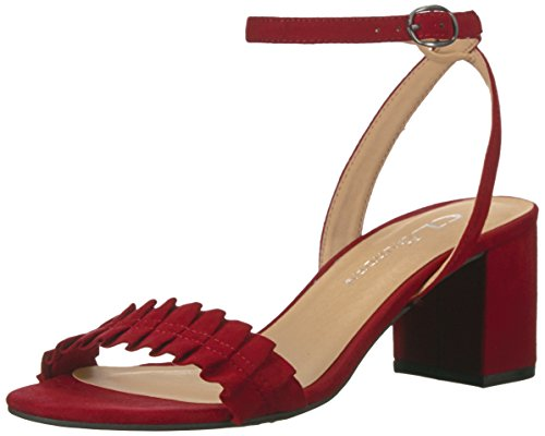 CL by Chinese Laundry Women's Jamz Dress Sandal, Cherry Red Suede, 7.5 M US