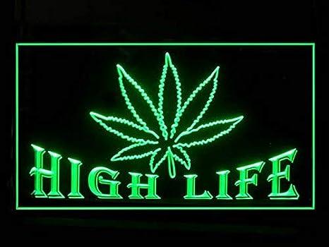 ADVPRO Cartel Luminoso j791-b Open Marijuana Hemp Leaf High Life Light Sign