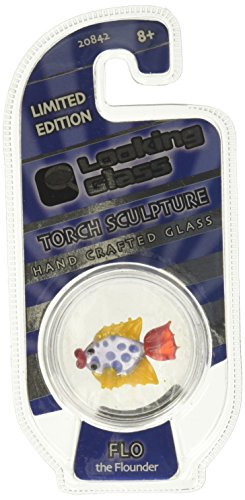 Looking Glass Flo the Flounder Miniature Glass Collectible, Pack of - Glass Flo