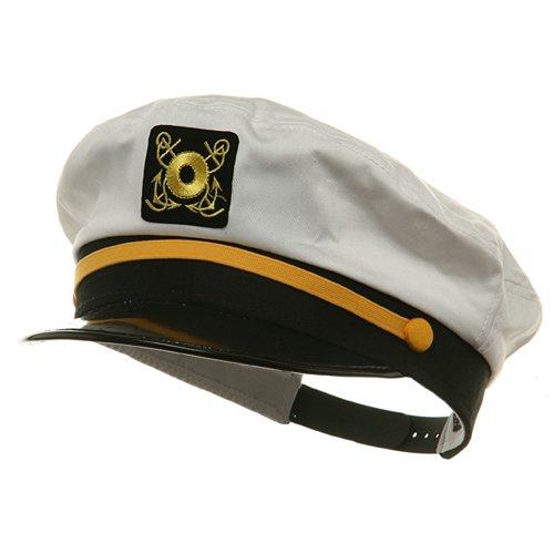 Adjustable Captain Hats-White W39S25C