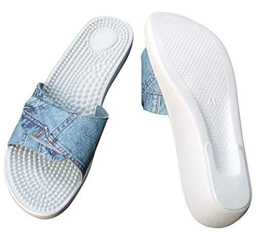 36 Jeansfarbig 1 EU Sanitaria Spiaggia Donna Bianco Bianco da Ciabatte PfCTnqF