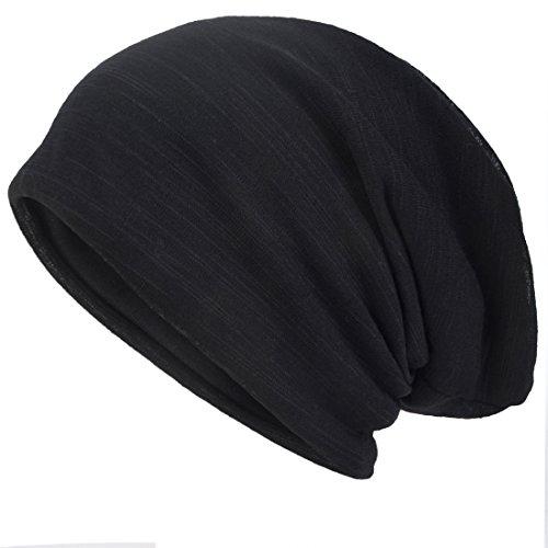 Men Slouch Hollow Beanie Thin Summer Cap Skullcap