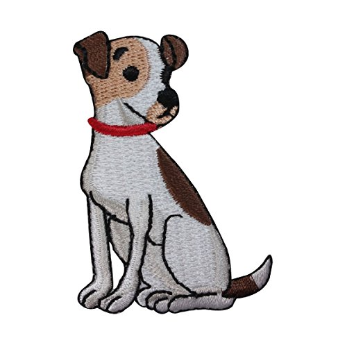 ID 2771 Terrier Dog Patch Jack Russell Puppy Breed Embroidered Iron On Applique