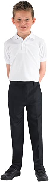 4D-Uniforms-Boys SCHOOL Trouser- SLIM LEG-PULL-UP QUALITY NO ZIP 23w x 21 inside leg , Black 7-8Yrs