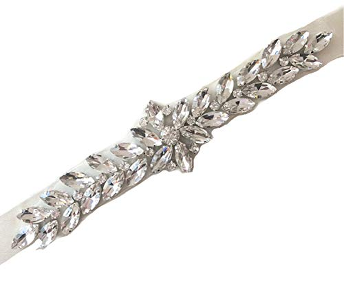 Floral and Crystal Brooch Pins, Corsages and Hair Accessories for Toddlers and Girls. (Arrow Rhinestone Ribbon Sash Belt)