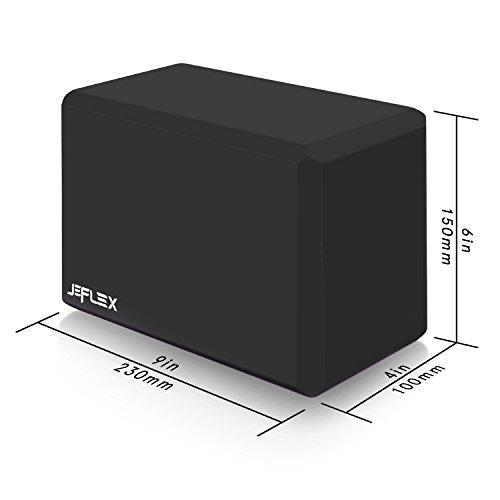 Yoga Block, JEFlex 2 Pack EVA High Density Comfortable Foam Yoga Blocks Exercise Fitness Bricks, Eco friendly and Lightweight