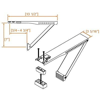 Jeacent Universal AC Window Air Conditioner Support Bracket Heavy Duty,Supports 85 lbs