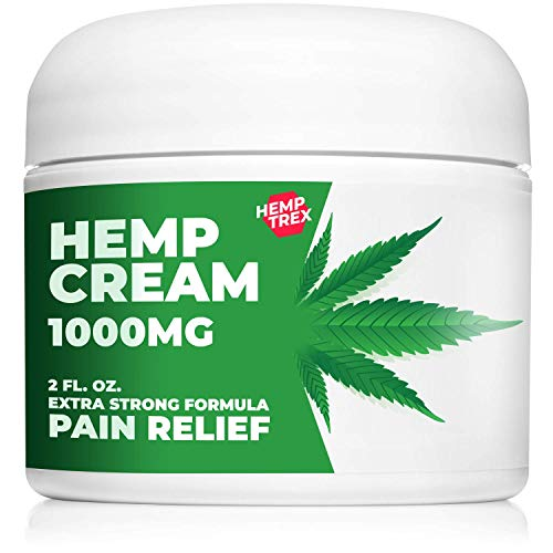 Hemp Cream for Pain Relief with 1000 milligram Hemp Oil - for Arthritis, Muscle, Joint, Fibromyalgia and Knee Pain
