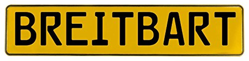 Vintage Parts 606394 Yellow Stamped Aluminum Street Sign Mancave Wall Art  Breitbart