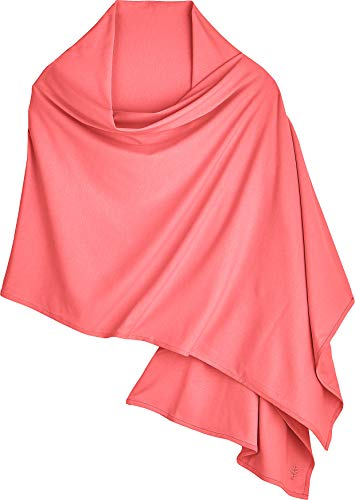 (Coolibar UPF 50+ Women's Everyday Beach Shawl - Sun Protective (One Size- Sunset Coral))