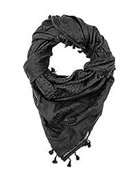 Hirbawi Premium árabe bufanda de 100% algodón Shemagh Kufiyya 119.4x 119.4cm bufanda fabricado en Palestina