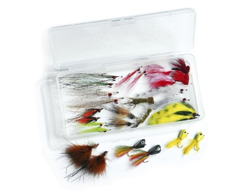 Rainy's Smallmouth Fly Collection - Clouser's Fly Fishing Flies kit - Collection of 26 ()