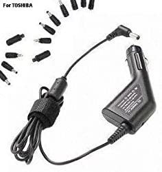 [ Fits All TOSHIBA laptop! ] Universal Car Adapter Charger for 12V, 15V, 16V, 18.5V, 19V, 19.5V, 20V, 45W, 60W, 65W notebook, tablet [ EQUIUM, Portégé, QOSMIO, Satellite PRO, Tecra] CARTOSHIRUNI8