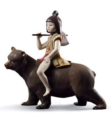 Lladro Kintaro And The Bear Figurine - Plus One Year Breakage Protection