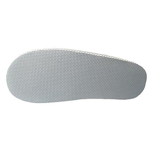bestfur Mens Soft Cozy Breathable Stripe Linen House Slippers Blue Q39EJ3