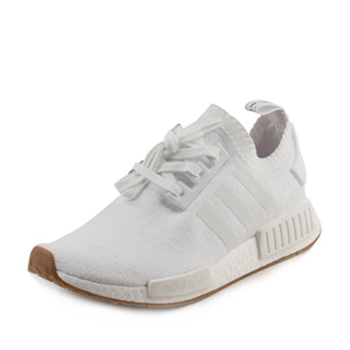 Adidas Leather Wrap - adidas NMD_R1 Primeknit Gum Pack Men's Shoes White/Gum by1888 (11 D(M) US)