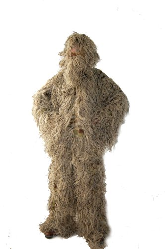 Ghillie Suit For Sale Cheap (Huntingdoor Modern Desert Ghillie Suit Desert Camo Ghillie Suit One Size Fits Most People For Outdoor Hunting)